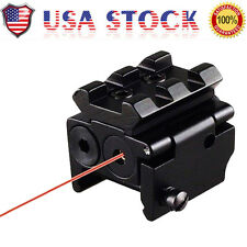 US Tactical Compact Red Dot Laser Sight Scope Dual Weaver/Picatinny Rail Mount