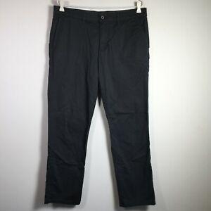 English Laundry Mens Chino Pants Size 32 W35 inch Dark Charcoal Grey Cotton