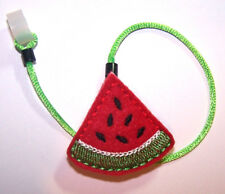 Children's Hearing Aid SAFTY LEASH RETAINER CLIP for 1 sided H.A....WATERMELON