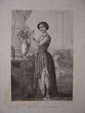 Gravure de Madame TALLIEN  Née à Saragosse