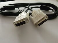 NEW DVI-D TO DVI-D SINGLE (MALE) DIGITAL PROJECTOR MONITOR CABLE LEAD 1.7m