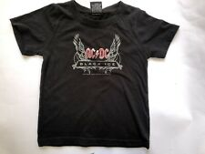 AC/DC Kids Childrens Black Ice Cotton Tshirt - Size 4