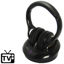 [New for 2018] Stereo TV Headphone Wireless Hearing Aid (3 Chan) UHF No-Latency