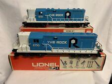 ✅LIONEL ROCK ISLAND GP-7 DIESEL ENGINE SET POWERED & DUMMY 6-8750 6-8751 O GAUGE