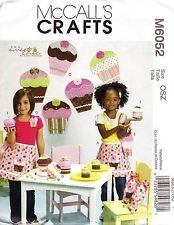 McCalls M6052 Craft Sewing Treat Bag Apron Cupcake Purse Gift Box Pin Wall decor
