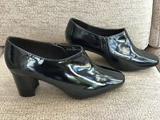 Ladies Patent Shoes Marks & Spencer Insolia Black 8 Wide NEW WITH TAGS