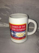NOS Los Angles 23rd XXIII Olympic Coffee Mug 1984 by Papel