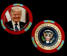 New ListingPresident Trump, Collector Casino Chip - Red