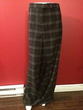 LANE BRYANT Women's Charcoal Plaid Dress Pants - Size 28 Regular - NWT