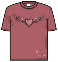 KINGS OF LEON - Red Heart - washed look - T-Shirt - Größe Size M - Neu
