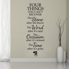 Four Thins Inspiring Quotes Wall Sticker Bedroom Living Room Lettering Art Decal