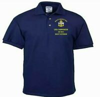 USS CARPENTER  DD-825  NAVY ANCHOR EMBROIDERED LIGHT WEIGHT POLO SHIRT