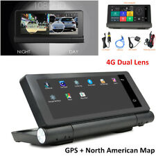 "4G 6.84"" HD 1080P Car DVR GPS Navi Dual Cam Android +Bluetooth16GB ADAS Foldable"