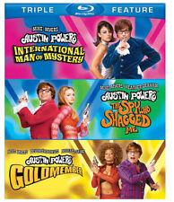 Austin Powers Triple Feature (Blu-Ray) Like New! 3 Austin Power Movies!
