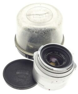 DISTAGON Zeiss CONTAREX 1:4 f=35mm chrome SLR camera lens with cap and keeper