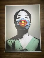 """Super Nurse"" By Fake Art Print Offset Poster Angel Of Hope Strength Obey Giant"