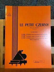 Le petit Czerny rév H. Vaillant Livre 1 éditions Delrieu partition méthode piano