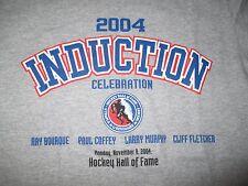 2004 HOCKEY HALL OF FAME (SM) T-Shirt RAY BOURQUE - PAUL COFFEY - LARRY MURPHY
