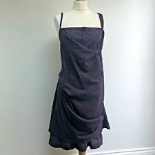 MAIS IL EST OU LE SOLELI Dress Size 42 UK 14 Purple Gathered Layered Lagenlook
