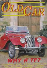 Old Car magazine 05/1989 featuring MG TF, Aston Martin, Triumph, Riley, Austin