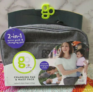 GO by Goldbug Changing Pad waist pack carrier Diaper Travel Gray Fanny Pack