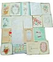 VTG Greeting Cards 25th Anniversary Lot 18 Parchment Roses Foil French Fold B