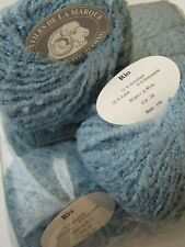 Paquet 10 Pelotes de laine Bouclette / Gamme Rio / Bleu Dragée