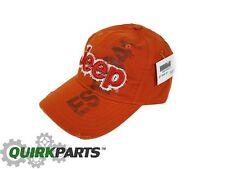 BRAND NEW JEEP EST 1941 ORANGE  BASEBALL CAP HAT