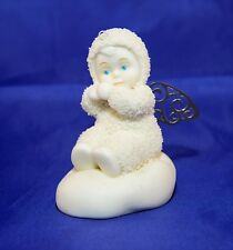 """Department 56 Snowbabies """"Angelic Wishes"""" Sitting Figurine Ornament #56.06924"""