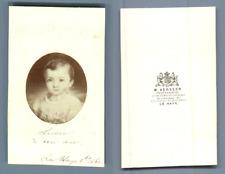 M. Verveer, La Haye Une fillette nommée Lucie  CDV vintage albumen carte de visi