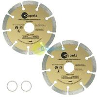 """(2 Discs) 115mm Segmented Diamond Cutting Disc for angle grinder 4.5"""" Blade"""