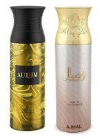 Ajmal Aurum Femme & Wisal Long Lasting Deodorant Body Spray For Women 200 Ml