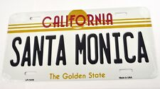USA Auto Nummernschild License Plate Deko Blechschild California Santa Monica