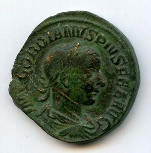 Gordien III (238-244) Sesterce Rome 242 Rv/ Apollon