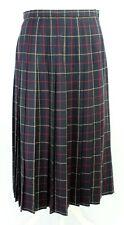 Edinburgh Vintage Tartan Wool Blue Pleated Winter Christmas Skirt Kilt 14 (10)