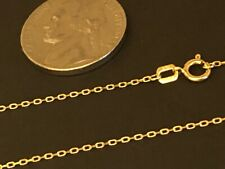 "14 k Solid Yellow Gold 1.2mm Angeled Rolo Chain Necklace 20""."