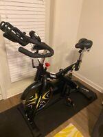 Home Gym Cardio Exercise Adjustable Stationary Cycling Bike Indoor Bicycle