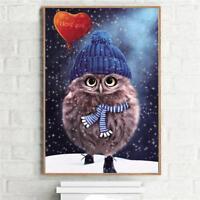 5D DIY Diamond Owl Embroidery Painting Cross Stitch Kit Home Decoration Craft S