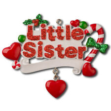 Family Little Sister Personalized Christmas Tree Ornament