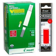 43924 Pilot Vboard Master Dry Erase Marker Refill Cartridge Red Ink 12 Each