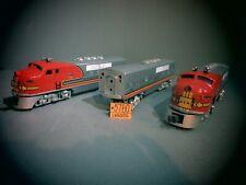 Lionel Trains Santa Fe F3 Diesel Engines Silver Art Bar B5016