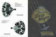 Pratt & Whitney R-4360 Wasp Major rare 1940's 50s engine manual maintenance