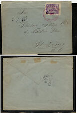 Colombia  202b  on cover to  US   1909    KL0110