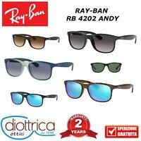 RAYBAN RB 4202 ANDY RAY-BAN OCCHIALE DA SOLE OCCHIALI UOMO DONNA POLAR SPECCHIO