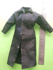 """1/6 Scale black long-Pluie Manteau Veste Tenue Pour 12"""" FIGURE/12 in (environ 30.48 cm) Figure"""