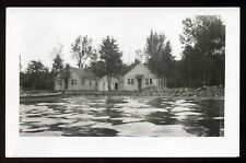 Vintage 1940's Cottages on Shawano Lake Wisconsin RPPC Postcard