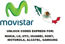 Movistar Mexico (Sams, Mot, Huawei, Alc, LG, Nokia, Sony) Unlock Express (NCK)