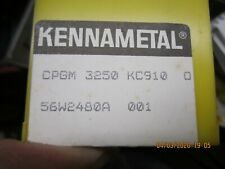 Kennemetal Indexable Carbide Inserts, 10 NOS CPMG 3250 KC 910
