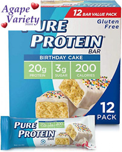 Pure Protein Bars, High Protein, 12 Count (Pack of 1), Birthday Cake