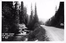 RPPC, Lead SD  South Dakota   ICE BOX CANYON  Lawrence County  c1940's Postcard